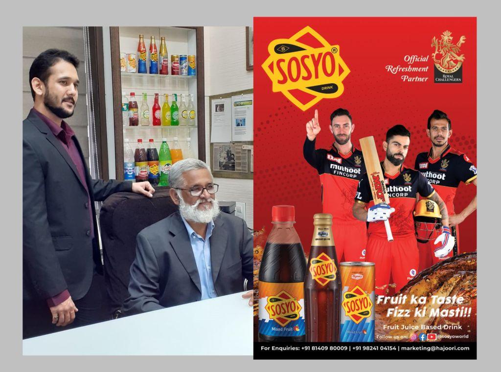 Sosyo Hajoori Beverages Pvt. Ltd's100 year-old flagship product Sosyo partners with Royal Challengers Bangalore