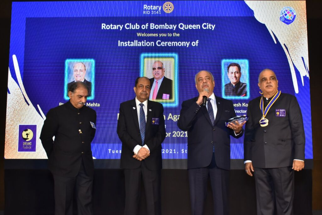 Rtn. Rajendra Agarwal Installed As District Governor In The Presence Of Rotary International President Shekhar Mehta