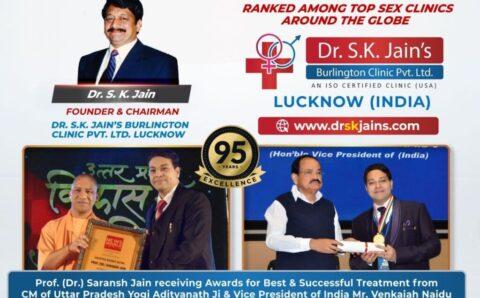 Dr. S. K. Jain's Burlington Clinic Pvt. Ltd. Lucknow Ranked among Top Sexologist Clinics around the Globe