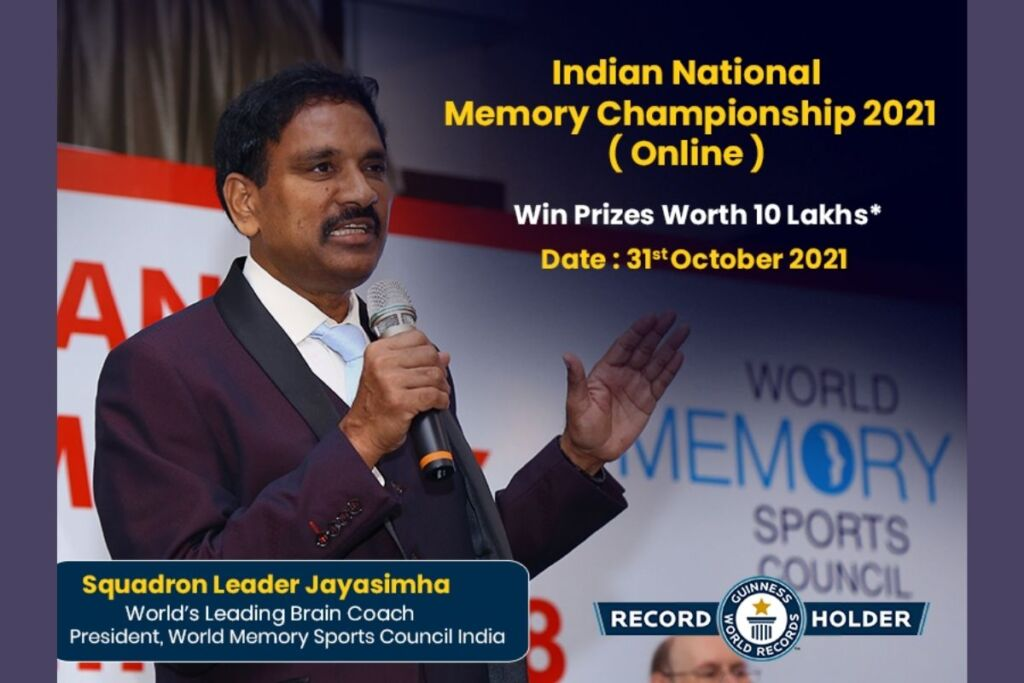 The Indian National Memory Championship – 2021 (Online) Announced